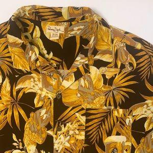 Panama Jack beer cocktail parrot Hawaiian shirt